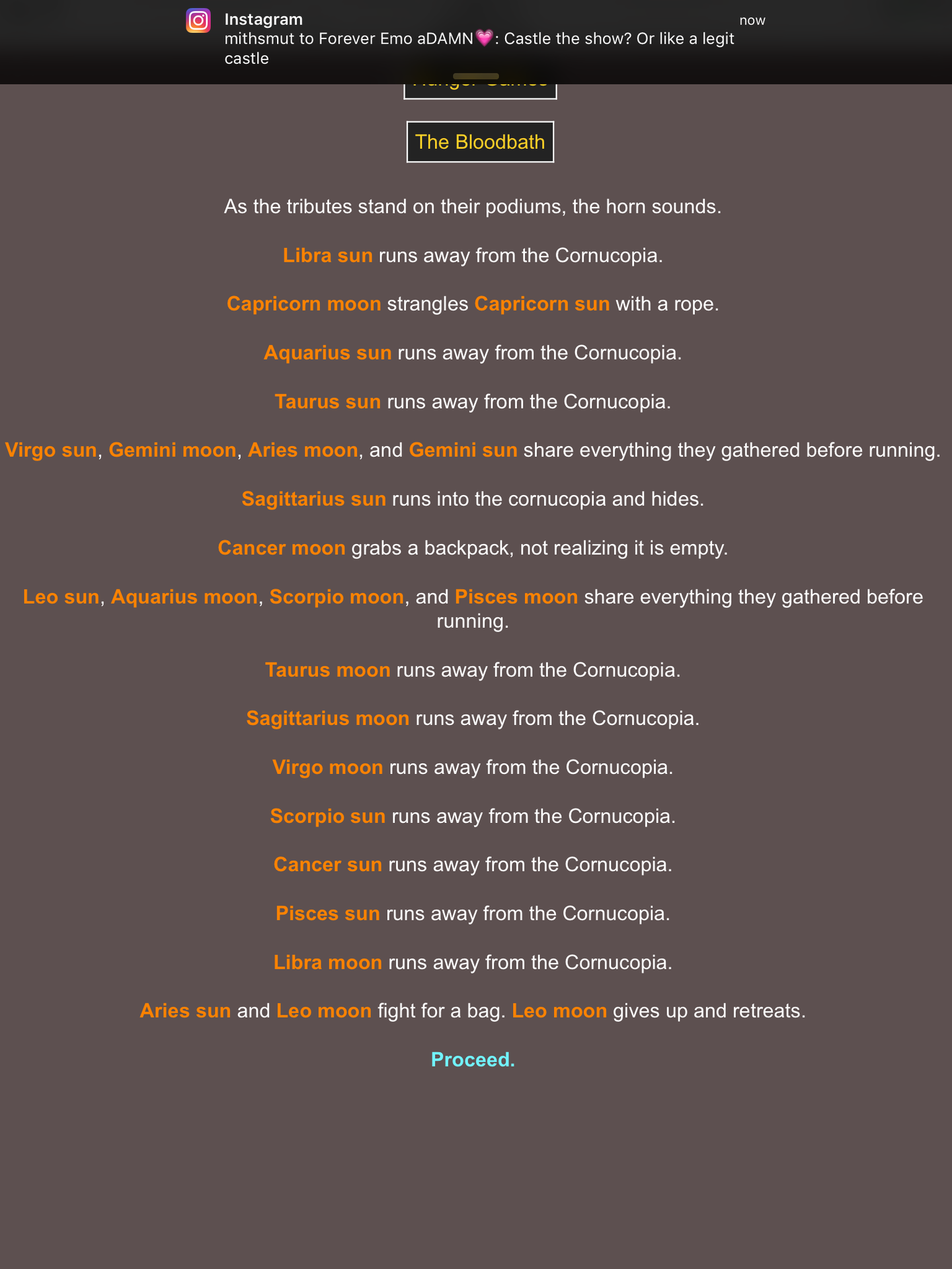 zodiac signs - Hunger Games Simulator! {pt  1} - Wattpad