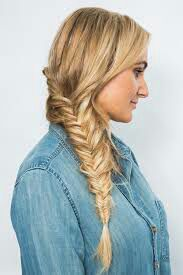 Next came your hair, which you did a fishtail braid on the side,hanging off your shoulder