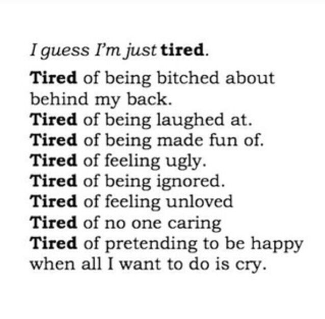 Sad Quotes - Just Tired - Wattpad