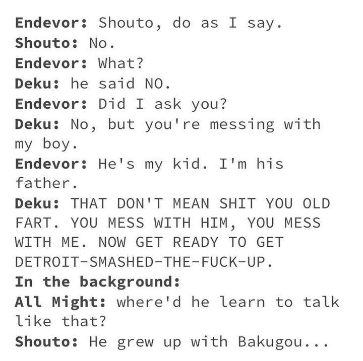 I wanna say that I want to blame Bakugou buuuuuuuuut I feel like I step on a landmine