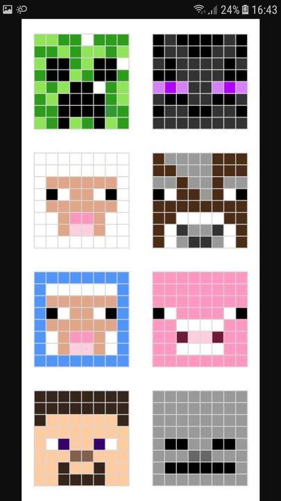 Dessin Pixel Art Facile Minecraft