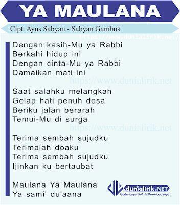download sholawat ya maulana versi sabyan gambus