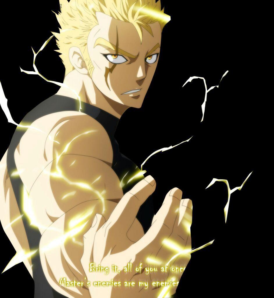 Ngoại hình: Laxus là một chàng thanh niên trẻ rất cao và cơ bắp với đôi mắt màu cam (xanh hoặc xám trong anime)và mái tóc màu vàngPháp thuật : sát lòng nhân hệ lôi
