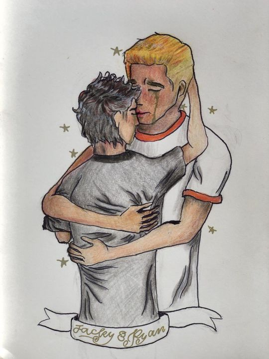 The lovely @strictly_reading did some artwork of Jacky and Ryan that I've been meaning to share!  I'm so honored!!
