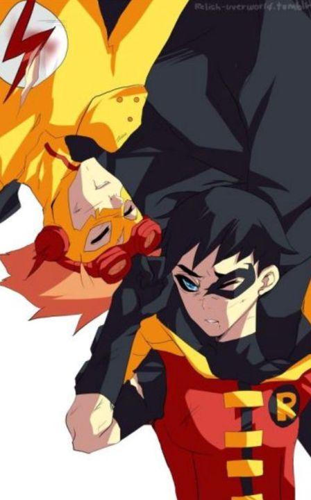 BirdFlash ~ Kid Flash X Robin (Dick Grayson) - Bad Boy Robs