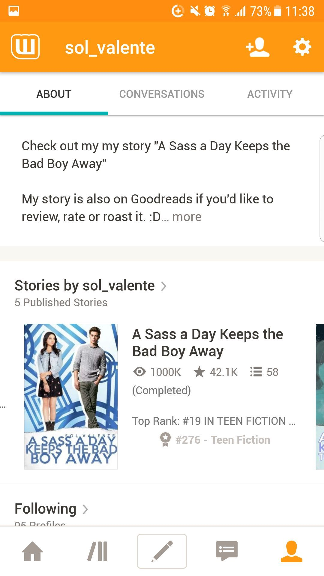 This is a huge milestone and accomplishment for me and I'm still really overwhelmed since the 27th February was the day I posted the first chapter of this story and I can't believe it's almost been a year