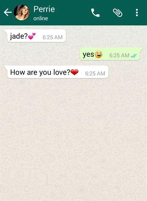 Omg she called me love again!!