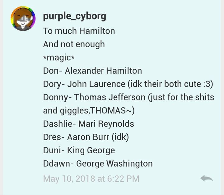Don: okay that's enough Hamilton I'm done