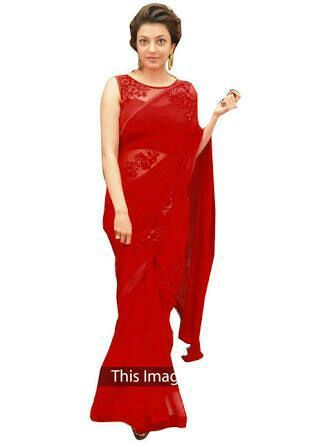 It was a red saree wrapped in a red packet with red rose and note attached to it