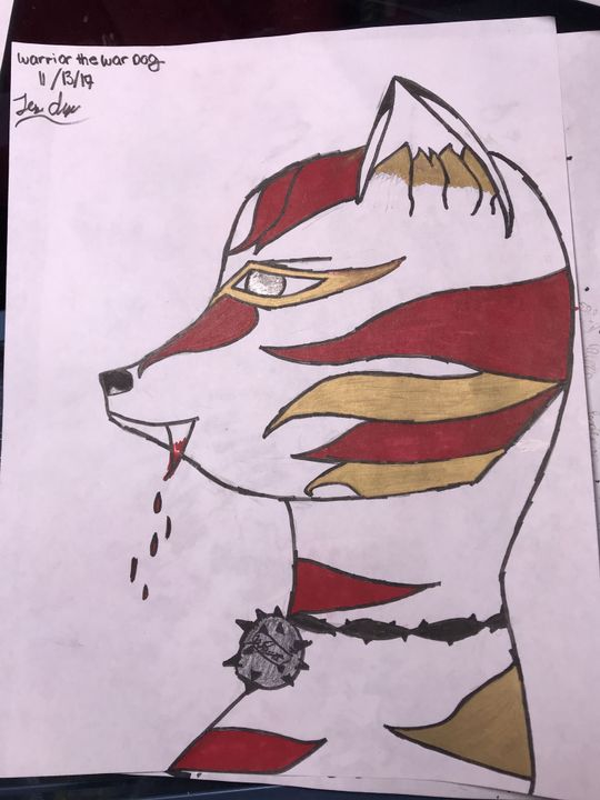 My Drawing Book (REQUESTS CLOSED FOR NOW) - Warrior the War Dog ~ OC