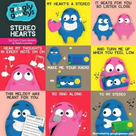 Songs I Love (Lyrics) - Stereo Hearts - Wattpad