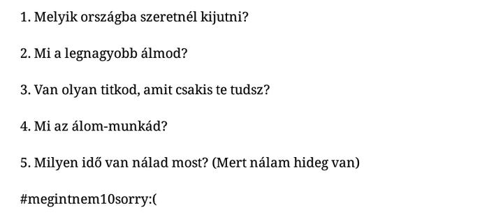 Nhlamina kérdései: