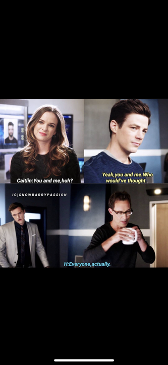 """""""You and me, huh?"""" Caitlin said"""" yeah, you and me"""