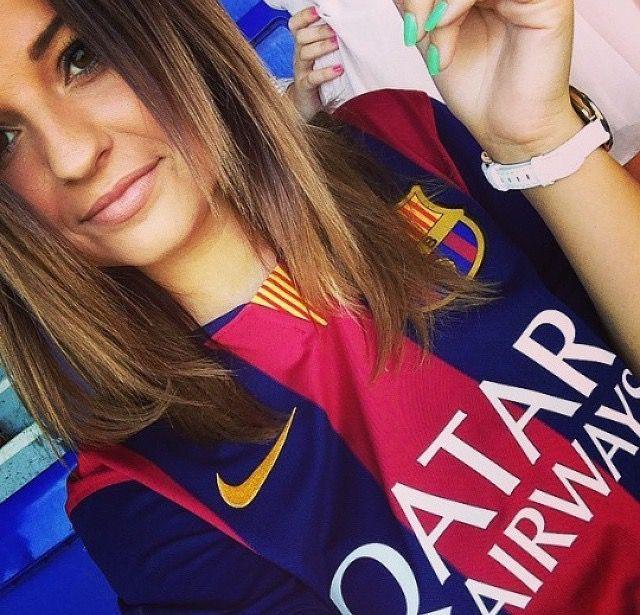 """""""Visça Barça, vamos con todo mi guapo @luissuarez9 ❤️ """""""