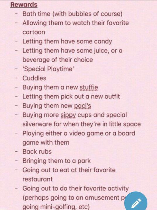 Some rewards for when your little is on their best behaviour