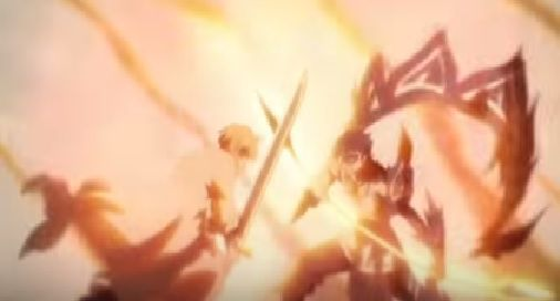 (y/n) was applying more strength in his attack, pushing down Gilthunder