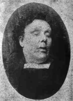 eight days later a second prostitute, Annie Chapman (above), 47, was discovered in the back yard of 29 Hanbury Street, Spitalfields, at around 6am