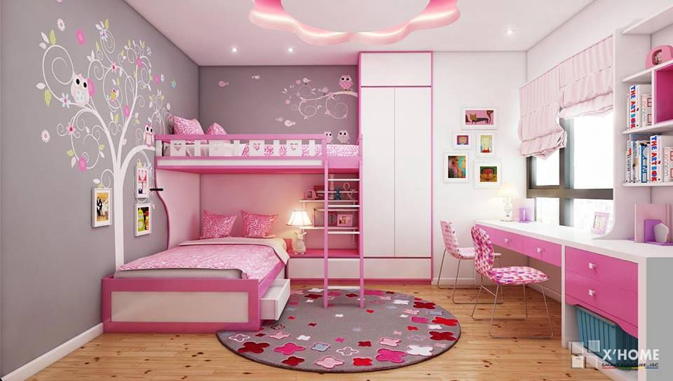 Giường được thiết kế theo kiểu giường tầng