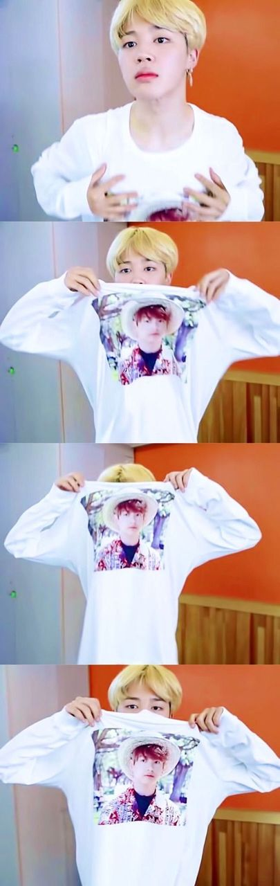 ONE; when a fan gave me a shirt of his face on it, of course I had to wear it all day (despite his pout) ^_^|