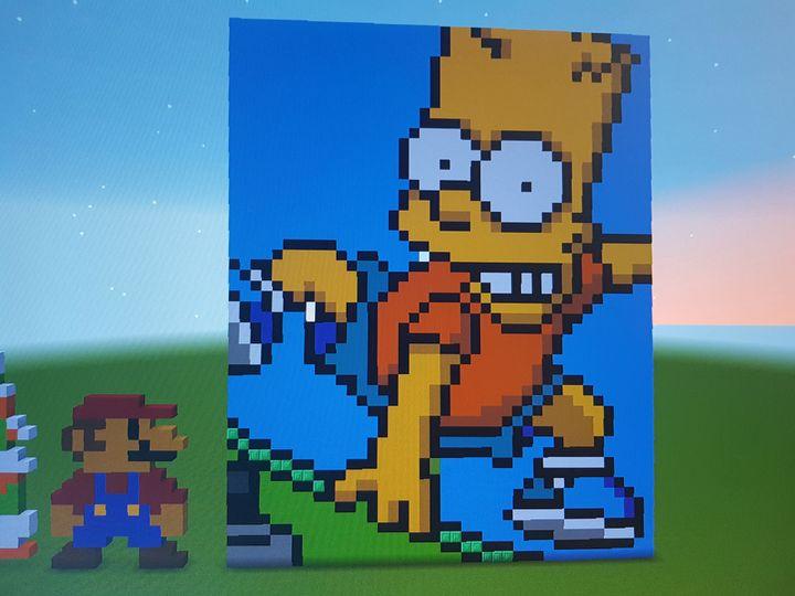 Ein Bart Simpson Pixel Art