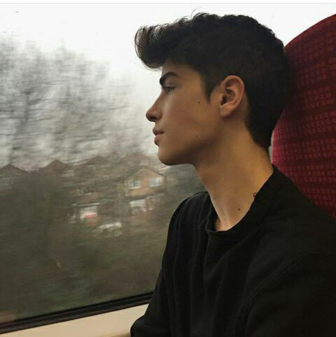 He was quiet, staring out the window like he was thinking about something important