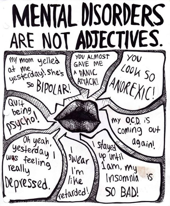 """""""Bipolar isn't an adjective, remember?"""""""