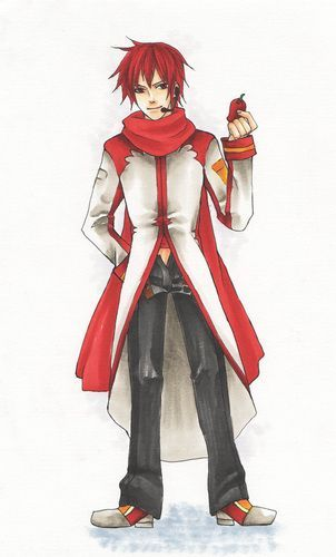 (N/A: ese es Akaito Shion el trillizo de Kaito, y digo trillizo por que también esta Kaiko que es su hermana)