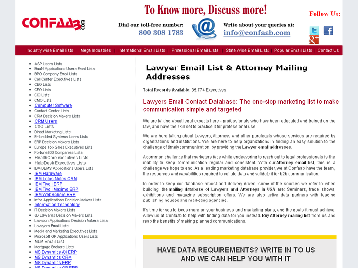 Pharmaceuticals Industry Executives Mailing List - Lawyers