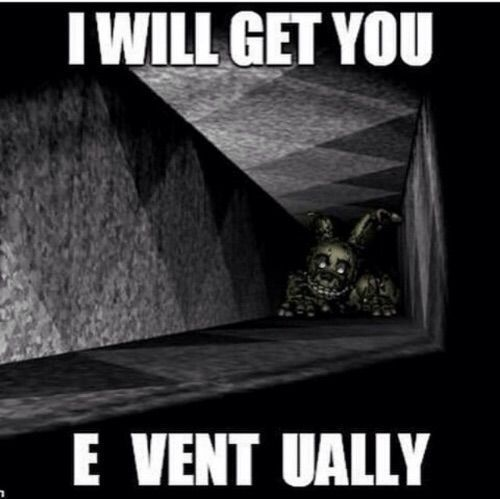 *Mike playing Fnaf 3, He closes the doors on Springtrap who instead enters the vents*