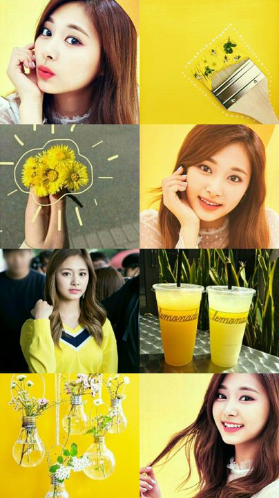 Best Ever Aesthetic Wallpapers Yellow Collage Wallpaper