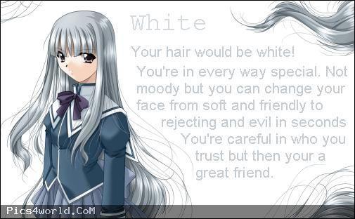 Anime Hair Color Meanings - White - Wattpad
