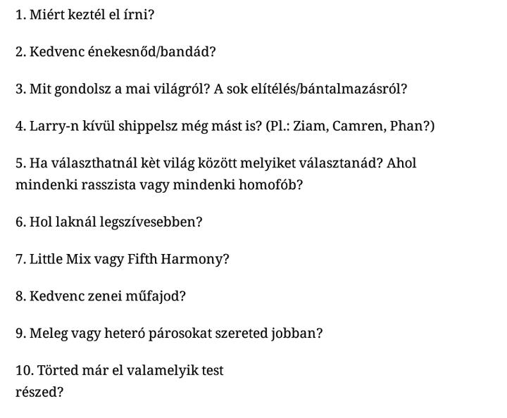 EdinaStylinson kérdései: