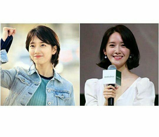Image result for Suzy yang tampak lebih imut dengan rambut pendek, serta YoonA tampak anggun dengan rambut pendek.