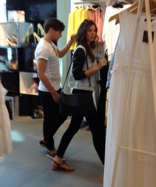 The duo fueled the speculations on Monday when they were spotted shopping and looking pretty darn cozy in the process