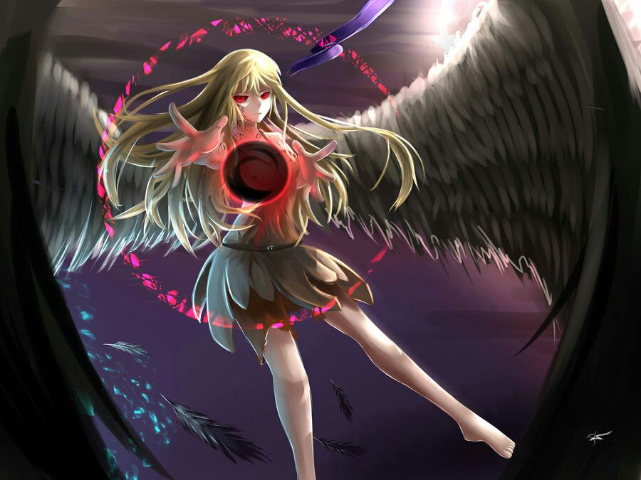 Картинки аниме полу ангел полу демон девушка