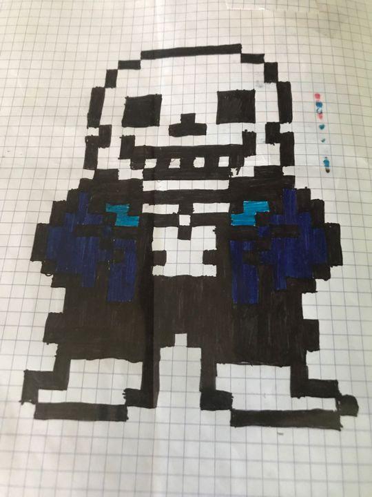 Mes Pixels Art 3sans Undertale Wattpad