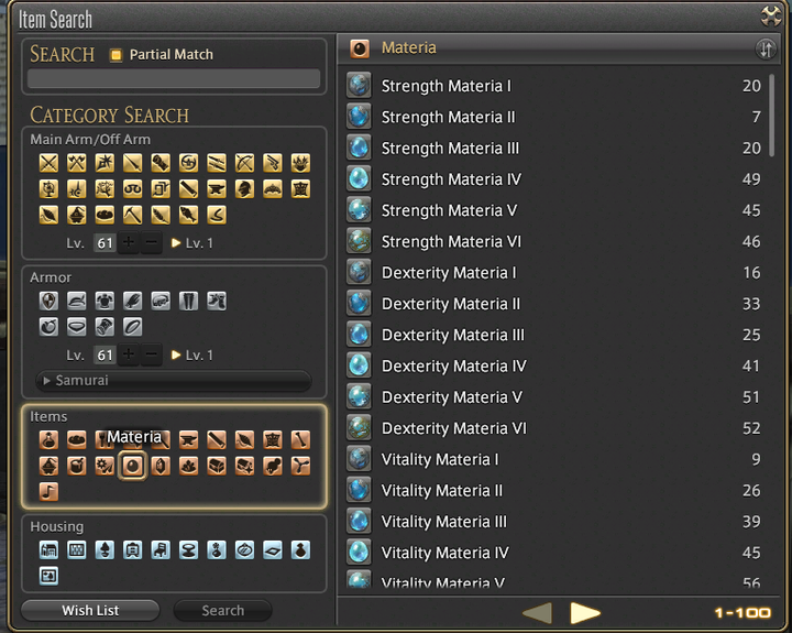 To obtain materias you can get your retainers on a venture (you can get ventures at your grand company salesman, leve quests or beast man tribe quests)