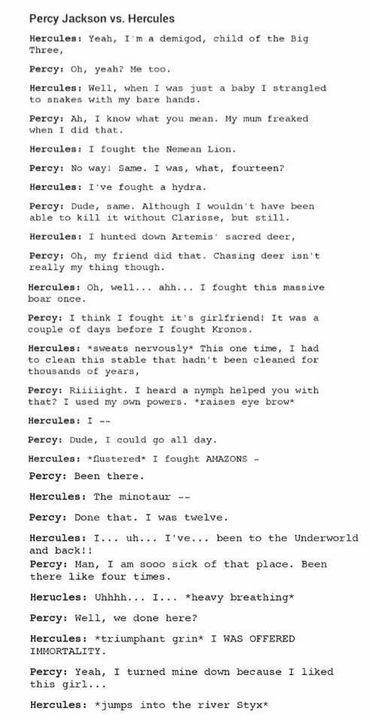 Percy Jackson Jokes Headcanons Percy Jackson Vs Hercules