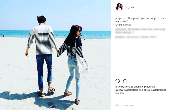 On June 20, Yerin had posted a picture of her with a guy which was took in Gyeongpo Beach, while on June 21, Jungwook had posted a picture of him with a girl which was also took in the same beach