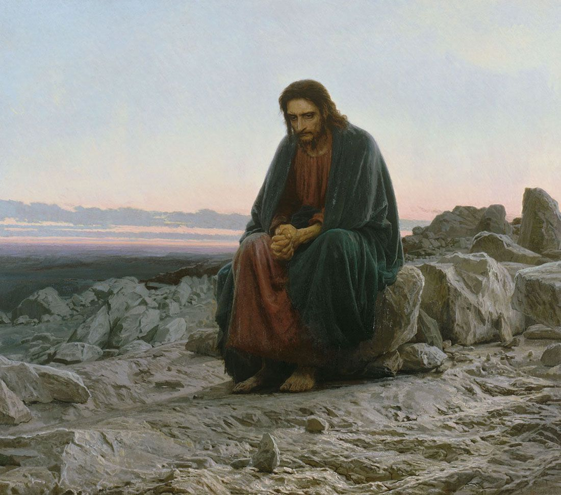 Gesù nel deserto di Ivan Kramskoy 1897 conservato a San Pietroburgo
