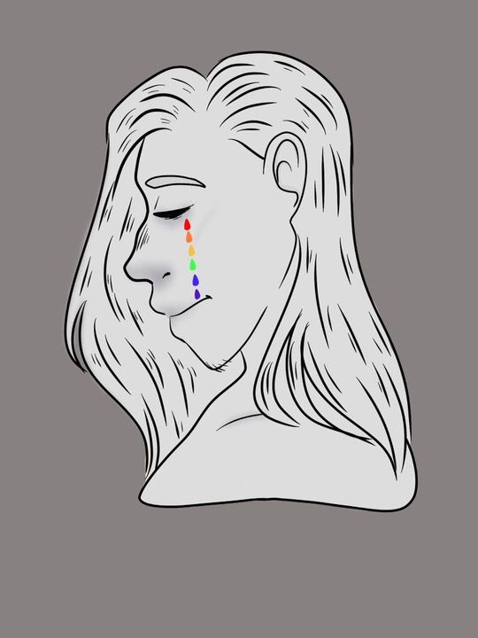 I'm gonna be completely honest with you guys, this was just an excuse to draw rainbow tears cause I was feeling like it