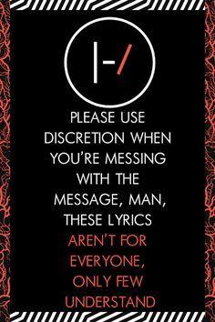 Twenty One pilots Lyrics - Message Man - Wattpad