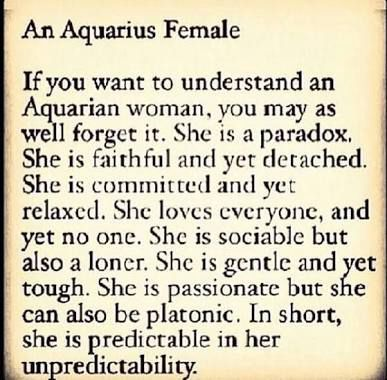 ZODIAC SIGNS AND STORIES(PART TWO!!!!!) - Aquarius woman