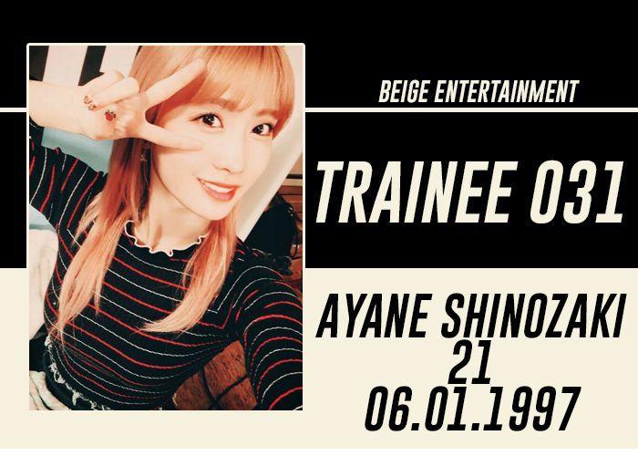 FULL NAME: Ayane Shinozaki