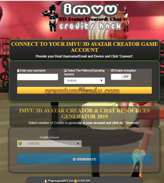 IMVU 3D Avatar Creator& Chat Hack Online 2019 - Wattpad