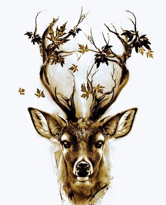 Chantal es una Cierva misteriosa de cabellos dorados y con cornamenta similares a ramas de los árboles que varía según la estación del año