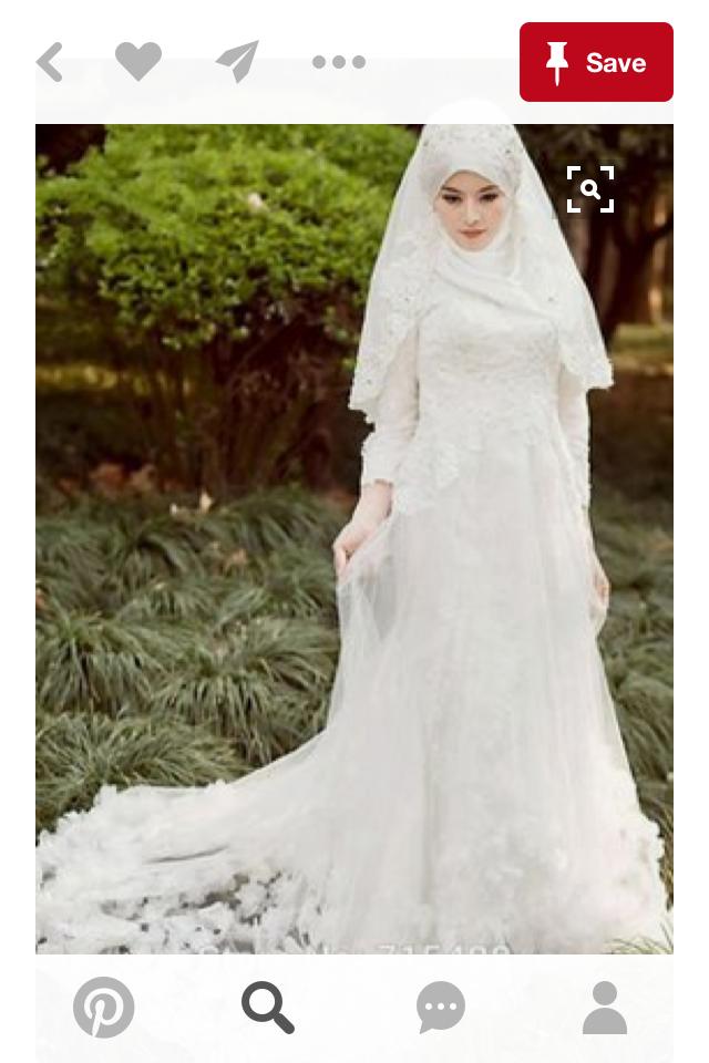 Свадебные платья мусульманки