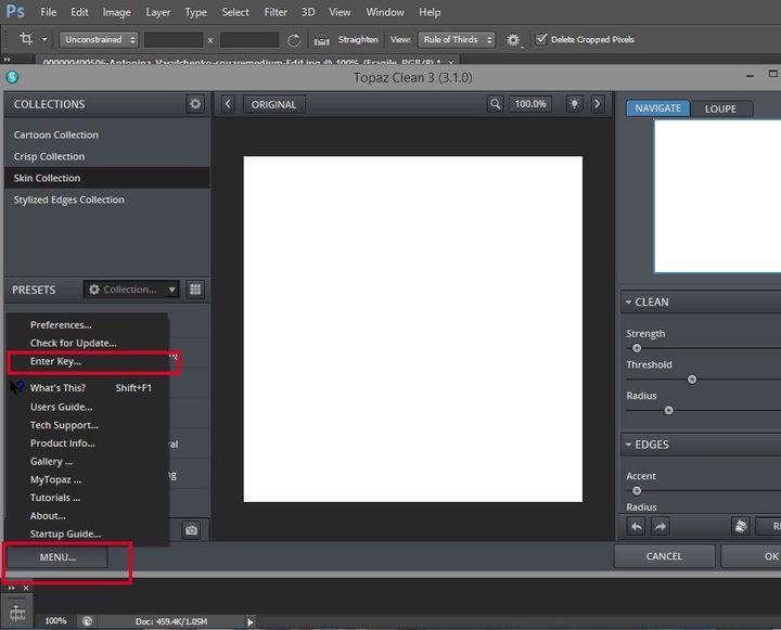 Photoshop topaz clean filter
