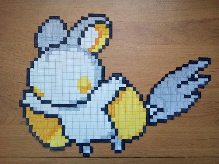 Dessin Pixel Pokemon Lunala