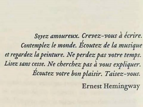 L Envol Bribes 4 Citation Ernest Hemingway Wattpad